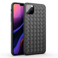 Черный силиконовый чехол для iPhone 11 Pro Max Имитация плетения