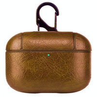 Светло-коричневый кожаный чехол для AirPods Pro