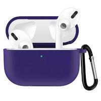 Фиолетовый силиконовый чехол с карабином для AirPods Pro