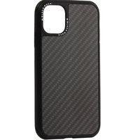 Черный защитный карбоновый чехол для iPhone 11 - Black Rock Robust Case Real Carbone