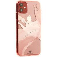 Прозрачный пластиковый чехол со стразами для iPhone 11 - White Diamonds Liquids