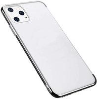 Прозрачный силиконовый чехол для iPhone 11 Pro Max серебристый край