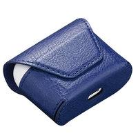 Синий кожаный чехол конверт для AirPods 3 2021