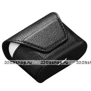 Черный кожаный чехол конверт для AirPods Pro