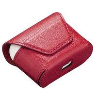 Красный кожаный чехол конверт для AirPods 3 (2021)