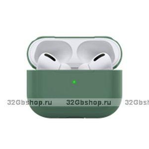 Зеленый силиконовый чехол Deppa для AirPods Pro