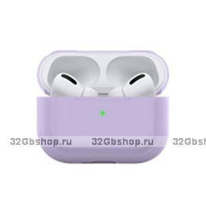 Фиолетовый силиконовый чехол Deppa для AirPods Pro
