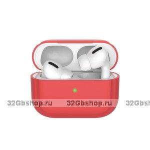 Красный силиконовый чехол Deppa для AirPods Pro