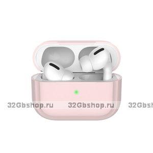 Розовый силиконовый чехол Deppa для AirPods Pro