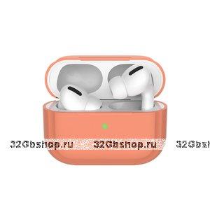 Персиковый силиконовый чехол Deppa для AirPods Pro