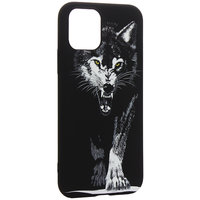 Черный силиконовый чехол для iPhone 11 Pro Max рисунок Волк