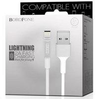 Белый кабель для iPhone 1м - USB to Lightning - Borofone BX1 EzSync White
