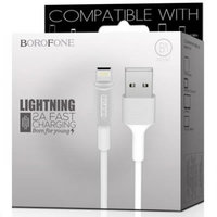 Белый кабель для iPhone 1м - USB to Lightning - Borofone BX1 EzSync White