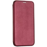 Бордовый кожаный чехол книга для Xiaomi Redmi 8 (6.22)