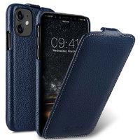 Синий кожаный чехол флип для Apple iPhone 11 - Melkco Premium Leather Jacka Type Blue