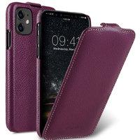 Фиолетовый кожаный чехол флип для Apple iPhone 11 - Melkco Premium Leather Jacka Type Purple