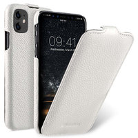 Белый кожаный чехол флип для Apple iPhone 11 - Melkco Premium Leather Jacka Type White