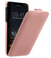 Розовый кожаный чехол флип для Apple iPhone 11 - Melkco Premium Leather Jacka Type Pink