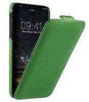 Зеленый кожаный чехол флип для Apple iPhone 11 - Melkco Premium Leather Jacka Type Green