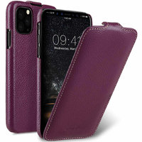 Фиолетовый кожаный чехол флип для iPhone 11 Pro - Melkco Premium Leather Jacka Type Purple
