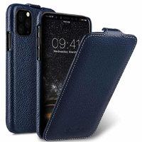 Синий кожаный чехол флип для iPhone 11 Pro - Melkco Premium Leather Jacka Type Blue