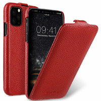 Красный кожаный чехол флип для iPhone 11 Pro - Melkco Premium Leather Jacka Type Red