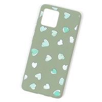 Зеленый силиконовый чехол с сердечками для iPhone 11 Pro