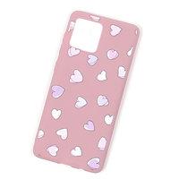 Розовый силиконовый чехол с сердечками для iPhone 11 Pro