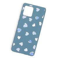 Голубой силиконовый чехол для iPhone 11 Pro Max с рисунком сердечки