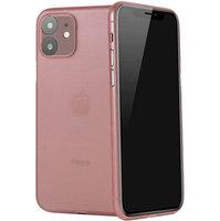 Розовый ультратонкий пластиковый чехол iPhone 11