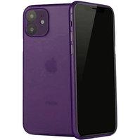 Фиолетовый ультратонкий пластиковый чехол iPhone 11