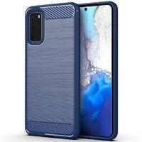 Синий защитный противоударный чехол для Samsung Galaxy S20