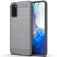 Серый противоударный силиконовый чехол для Samsung Galaxy S20