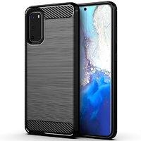 Черный защитный силиконовый чехол для Samsung Galaxy S20