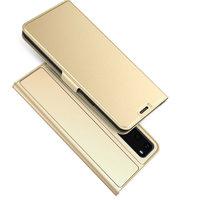 Золотой чехол книжка для Samsung Galaxy S20 - Art Case Book Wallet Gold