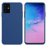Синий силиконовый чехол Silicone Cover Blue для Samsung Galaxy S20+ Plus