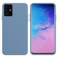 Голубой силиконовый чехол Silicone Cover Light Blue для Samsung Galaxy S20+ Plus