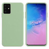Зеленый силиконовый чехол Silicone Cover Green для Samsung Galaxy S20+ Plus