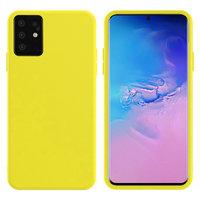 Желтый силиконовый чехол Silicone Cover Yellow для Samsung Galaxy S20+ Plus