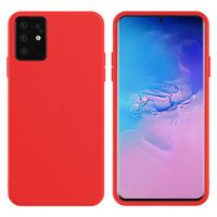 Красный силиконовый чехол Silicone Cover Red для Samsung Galaxy S20 Plus
