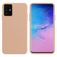 Розовый силиконовый чехол Silicone Cover Pink для Samsung Galaxy S20 Plus