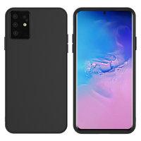 Черный силиконовый чехол Silicone Cover Black для Samsung Galaxy S20 Plus