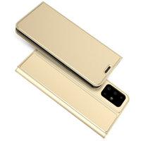 Золотой чехол книга для Samsung Galaxy S20+ Plus