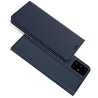 Синий кожаный чехол книжка для Samsung Galaxy S20+ Plus