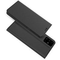 Черный кожаный чехол книжка для Samsung Galaxy S20 Plus