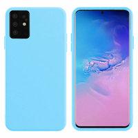Светло-голубой силиконовый чехол Silicone Cover Light Blue для Samsung Galaxy S20+ Plus
