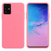 Ярко-розовый силиконовый чехол Silicone Cover Pink для Samsung Galaxy S20 Plus