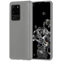 Серый силиконовый чехол накладка для Samsung Galaxy S20 Ultra