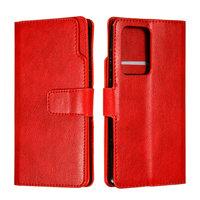 Красный чехол книжка для Samsung Galaxy S20 Ultra