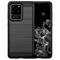 Черный защитный противоударный силиконовый чехол для Samsung Galaxy S20 Ultra
